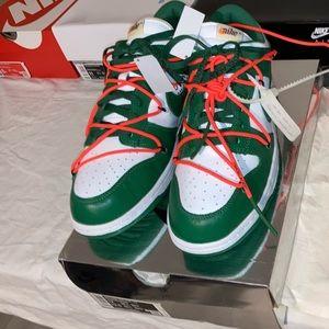 Off White x Nike Dunk Low Pine Green men's size 12